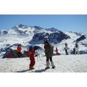 Sortie de ski en bus à la Plagne. ©SavoieMontBlanc-Raïh